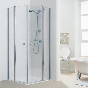 מקלחון פינתי שתי דפנות ושתי דלתות