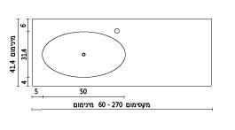 משטח עם כיור רחצה ENF-Climax שרטוט