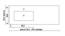משטח עם כיור ENF-Density שרטוט
