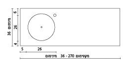 משטח עם כיור ENF-Hadas שרטוט