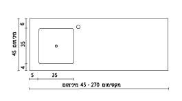 משטח עם כיור ENF-Optimal שרטוט