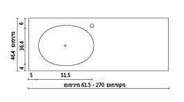 משטח עם כיור ENF-Teena שרטוט