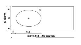 משטח עם כיור ENF-Tsivony שרטוט