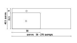 משטח עם כיור רחצה ENT-Avgar שרטוט