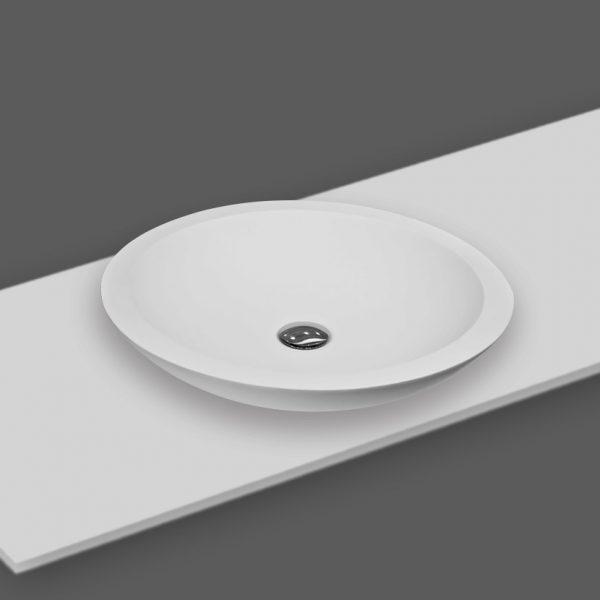 משטח עם כיור ENT-Random לבן