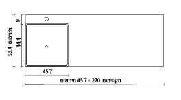 משטח עם כיור ENT-Seyfan שרטוט
