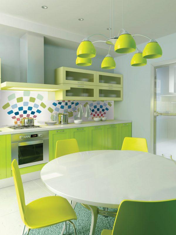 חיפוי זכוכית Kitchen-green-V--RE321