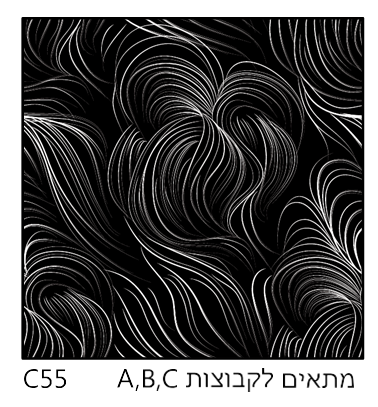 אריחי זכוכית C55