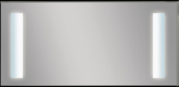 מראה מרובעת כולל שני פסי תאורה דגם MQF500