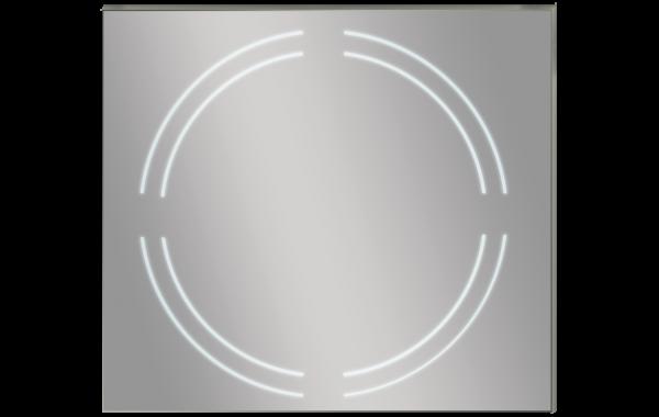 מראה מרובעת עם תאורה עגולה MQF760