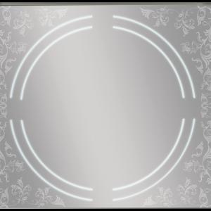 MQF920 מראה מרובעת עם צריבה אומנותית ותאורת לד עגולה